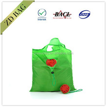 cheap 190t polyester recycled folding shopping bag