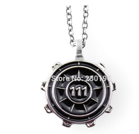hot game fallout vault 4 111 medallion necklaces with L 'iconic tool vault door silhouette for fans N-00