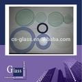 pièces de verre rondes en verre fours électriques rondes coin rond en verre