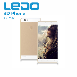 LEDO High quality 4G double sim card 3D android smart mobile phone