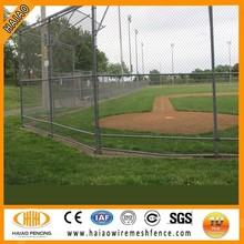 sport ground used chain link fence for baseball fields