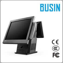 """BUSIN Brand TI5-D3 pax pos terminal with 4G memory/ 128G SSD/ 15"""" Capacitive touch screen/9.7"""" customr display"""
