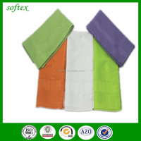 solid color waffle weave cotton fabric kitchen towel with dobby border