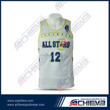 Custom Team Basketball Tops Sublimation jerseys Fashionable Custom Basketball Uniform Top