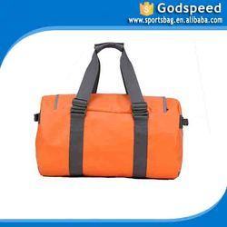 larege capicity orange duffel durable pvc waterproof bag