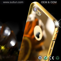 """For iPhone 6S Mirror Case, Chrome Mirror Back Cover With Aluminum Bumper Case For iPhone 6 4.7"""""""
