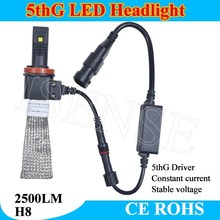 Newest x5 headlight with fanless cooper belt H11 led bulb 20w / per bulb H11 led bulb 40W