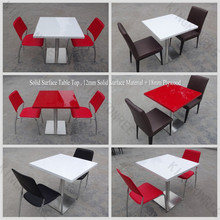 USA new design resin dining table with marble looking