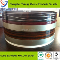 decorative furniture bicolor PVC edge banding trim