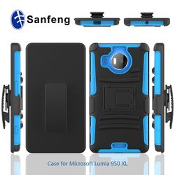 Hybrid Belt Clip Holster Combo Case For Microsoft Lumia 950XL Hard Cover