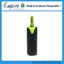 Black uesful custom logo wholesale promotional neoprene wine carrier
