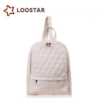 fashion promotional cheap women leather backpack bag from China