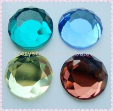 1021 glass round mirror bead with table-board flat