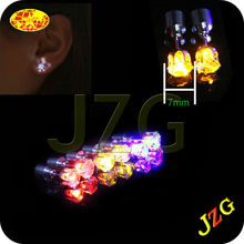 13 years led gifts factory supply cheap flashing light earrings glow in the dark led magnetic earring