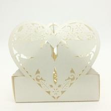 2015 Laser Cut Paper Bcru Love Birds Heart Irregular Shape sweet box,Chocolate packaging box,European candy box wholesale