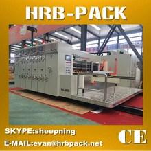 HRB-PACK FULLY AUTOMATIC FLEXO CARTON BOX PRINTING SLOTTING DIE CUTTING MACHINE
