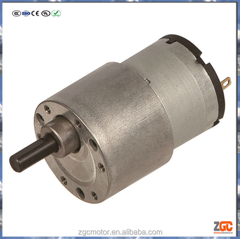 Pm Dc Spur Gear Motor 33mm Gear Box Od37 12v 24v Buy Pm