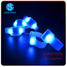 Party flash goods Remote controlled Glowing colorful LED silicone Bracelet