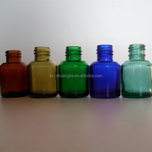 Cosmetic packaging 15ml various colors glass bottle cosmetic packaging essential oil glass bottle for sale
