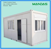 prefab modular movable prefabricated modern house container with glass windows