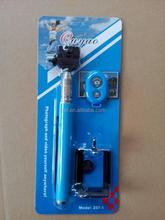 2015 new productwireless selfie shutter stick handheld bluetooth remote control selfie timer monopod tripod