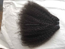Alibaba stock 100% human hair mongolian virgin hair kinky afro virgin hair 4c