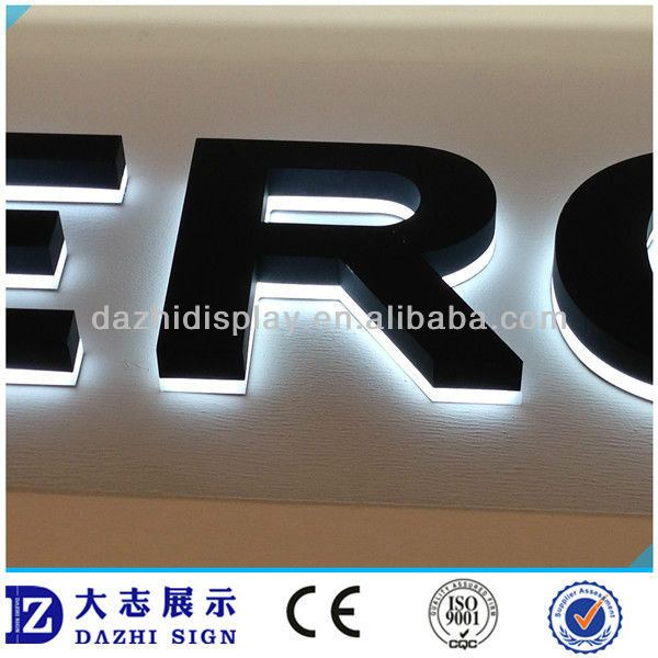 Outdoor Advertising Acrylic Letter Signs Stainless Steel