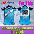 El diseño de su propia camiseta sublimación/ropa de deporte, los niños camisetas de fútbol de kits de