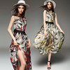 women clothing manufacturer printed wholesale long sleeve Maxi dress