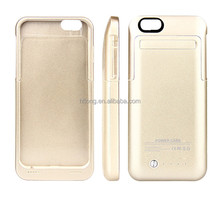 "4200mAh External Battery Power Bank Case Pack Backup Charger Cover with Stand for iPhone 6 Plus 5.5"" High Quality Luxury Gold"