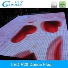 led video light up flooring full color