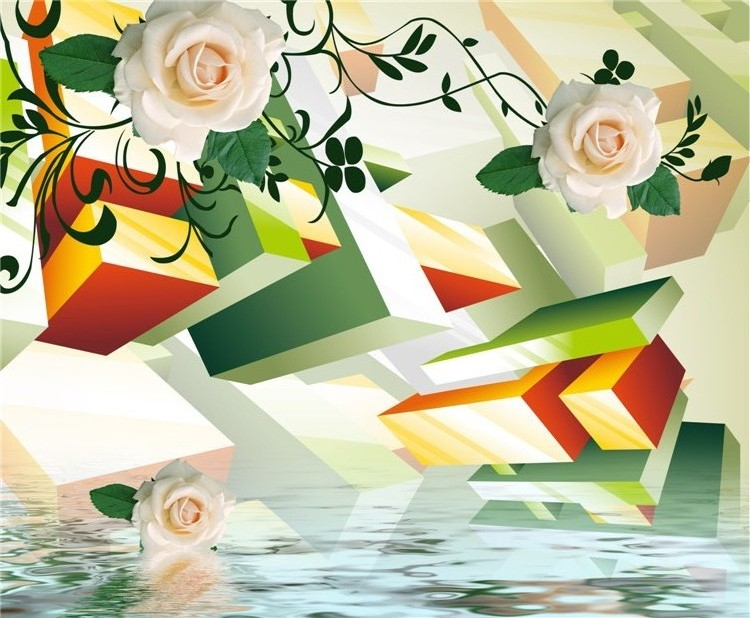 멋진 꽃 패널 디자인 3d 입체 홈 장식 tv 배경 벽 논문-벽지 또는 ...