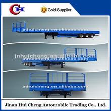 3 axle side wall open/column board semi trailer cargo trailer