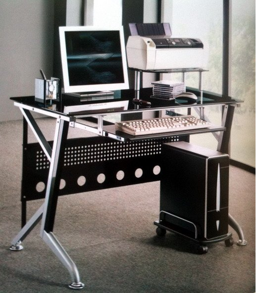 steel latest tempered glass computer desk assembly instructions table