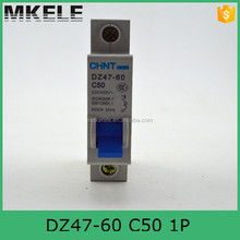 DZ47-60 C50 1P With the same quality of siemens Circuit Breaker