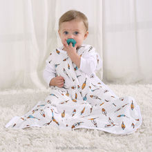 LAT bamboo fabric muslin love to swaddle up 100% cotton sleeping bag