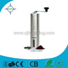 stainless steel safe coffee mill grinder Manual Ceramic Burr Coffee Grinder