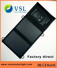 new design 18% high efficiency portable solar foldable charger with cord-lock for mobile phone