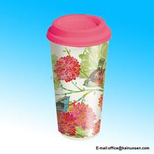 Garden Birds Ceramic Travel Cup