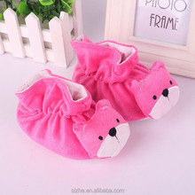 sz16-0009 hot selling new born baby shoes cute style plush baby shoe