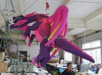 2015 new brand giant hanging inflatable dragon cartoon model animal mascot costume character replicas for outdoor advertising