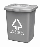 Outdoor decorative Fiberglass handmade dustbin with cover and logo