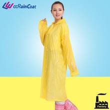 Sexy girls plastic rubber clear pvc rain coat