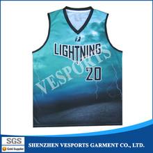 Fully polyester sublimation custom cheap basketball wear