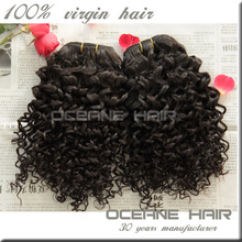 No chemicle real virgin intact cuticle new product from china manufacturer short hair brazilian curly weave