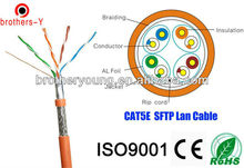 4 pairs double screen FTP cat 5e lan cable/network cable