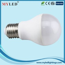 high cost performance 580 lumen ce rohs dimmable e27 LED bulb light 6.5w