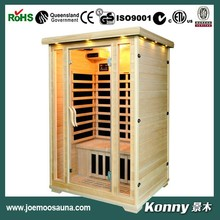 2015 dry far infrared sauna room with carbon heater KL-200C-H