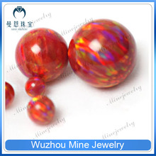 9.0mm OP#45 Japan Red Fire Factory Price of Opal Synthetic Beads