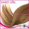 Piano color 100% Brazilian human hair extensions half wig for white women alibaba express